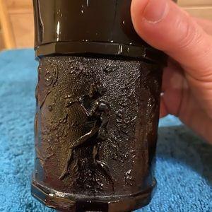 Accents - Vintage Black Amethyst Heavy Glass Vase